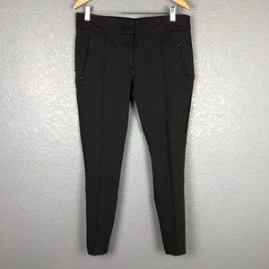 LOFT Charcoal Skinny Pants Seamed & Zipper Details